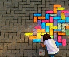 follow the colorful road