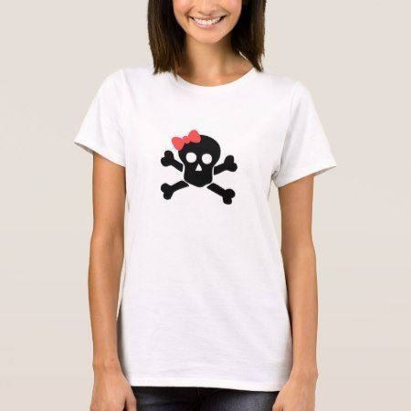 Skull With Bow T-Shirt - tap to personalize and get yours