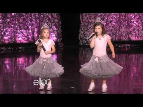 These little girls are so cute and I always look forward to Ellen having them on her show so I can see what they will do next. You've gotta see this little girl rap!