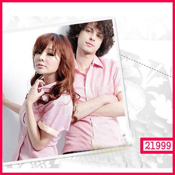 """Jual Kemeja Couple Korea PINK KODE : 21999  Harga :107.300,-sepasang  Bahan : Falcon  Size :  – Pria : LD=52cm P=73cm (L)  – Wanita : LD=47cm P=72cm  (M)  ====================   yukk order dengan sms kami di 089-77795217 atau bbm di 237B54D2 """"DICARI RESELLER DAN DISTRIBUTOR DI INDONESIA"""""""
