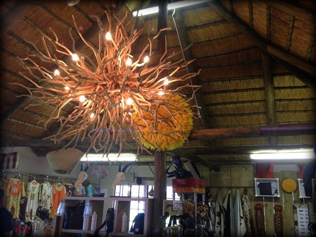 Piggly Wiggly - Twig chandelier