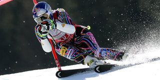 Lindsey Vonn rocking the Red Bull helmet - One of the most prestigious sponsorships in the extreme sports world.