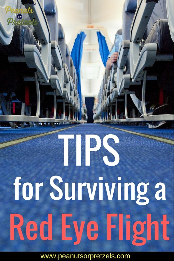 5 Expert Red Eye Flight Tips to Help You Survive an Overnight Flight - Peanuts or Pretzels