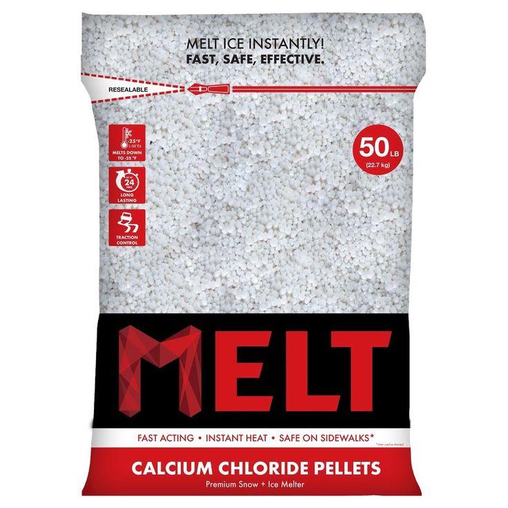 Snow Joe Calcium Chloride Ice Melt Pellets - 50 LB, Off White