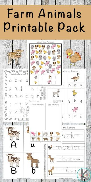 FREE Farm Worksheets – these super cute, free printable preschool and kindergart…