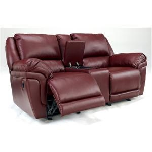Amazing Magician DuraBlend   Garnet Dual Glider Reclining Loveseat With Console By  Signature Design By Ashley