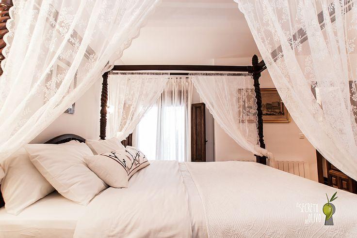 El secreto del Olivo at Nigüelas, Granada (Andalucía) #Boutiquehotel #homelyatmosphere #charmyinterior #romanticroom #four-posterbed #elegance #lovely