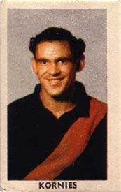 Norm McDonald was the first Aboriginal to play for Essendon and this 1949 Kornies card could be the first Aussie Rules trading card to feature an indigenous player.