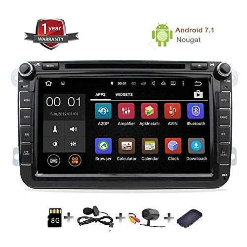 GPS Navigation for Car Stereo Double Din Bluetooth Touch Screen 8 inch Android 7.1 Sat Nav for VW Tiguan Golf Passat Jetta Skoda with Backup Camera and Map. For product info go to:  https://www.caraccessoriesonlinemarket.com/gps-navigation-for-car-stereo-double-din-bluetooth-touch-screen-8-inch-android-7-1-sat-nav-for-vw-tiguan-golf-passat-jetta-skoda-with-backup-camera-and-map/