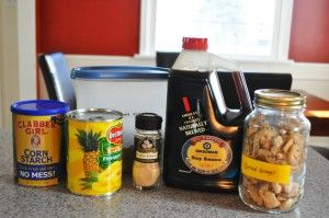 Make your own teriyaki marinade with soy sauce, pineapple juice, ground ginger, garlic powder and brown sugar - The Kitchen Witch