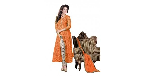 online shopping for orangegeorgette dress material