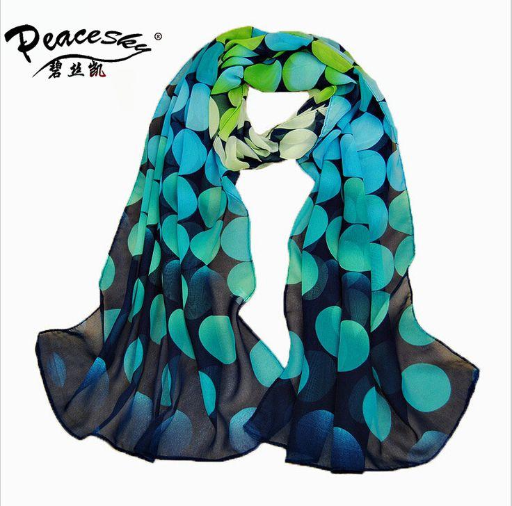 2015 Spring and autumn velvet chiffon scarf sunsreen cape beach towel polka dot silk scarf wholesale scarf Peacesky Brand