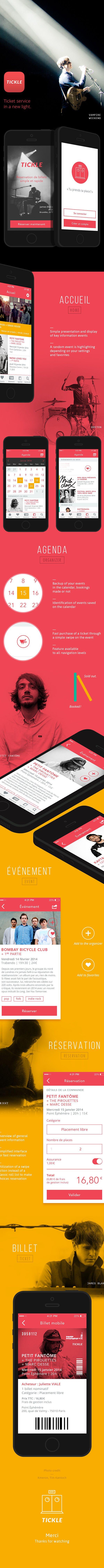 Tickle - Concept Mobile app by Caroline Varina Sourivong, via Behance