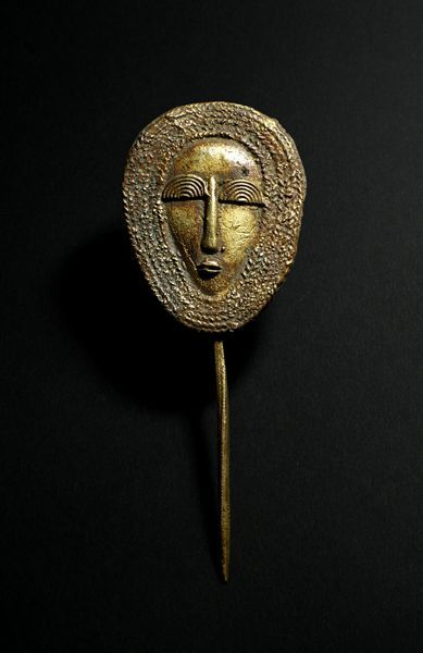 Africa | Hair pin from the Mossi people of Burkina Faso | Brass | 1970. Posted by Julia Indigo