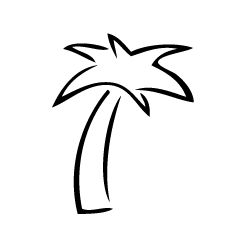 palm tree tattoo idea