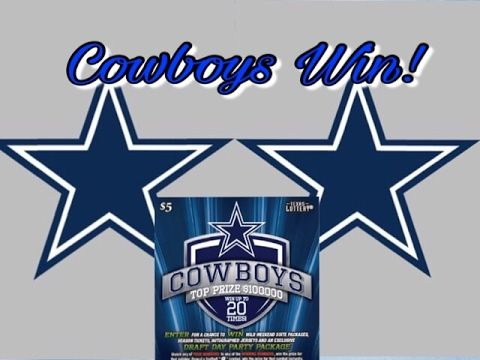 Dallas Cowboys For The Win!! | Texas Lottery Luck Zone Second Chance Drawing - http://LIFEWAYSVILLAGE.COM/lottery-lotto/dallas-cowboys-for-the-win-texas-lottery-luck-zone-second-chance-drawing/