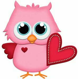 Silhouette Design Store: owl holding valentine heart pnc