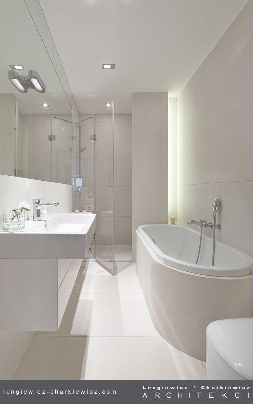 Dom znanej projektantki mody. Łazienka. Projekt i realizcja: lengiewicz-charkiewicz.com #bathroom (fotografia: Aleksander Rutkowski)