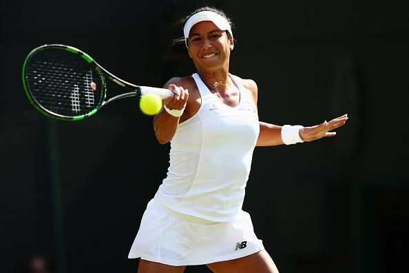 BBC Sport ‏@BBCSport 5m5 minutes ago  Heather Watson has taken the first set against Hantuchova 6-4. Watch on @BBCOne  http://bbc.in/1IMNZBk  #Wimbledon