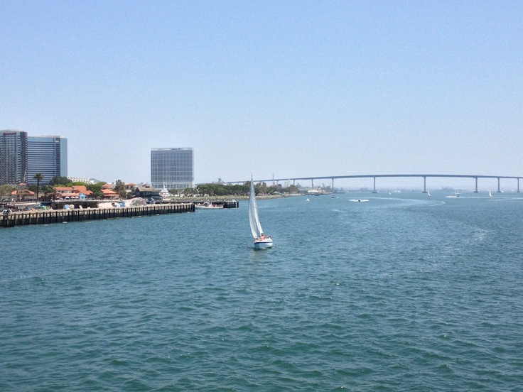 A picture perfect day for a sail on San Diego Bay, with