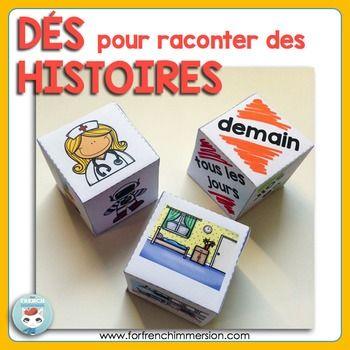 French Storytelling Dice - dés pour raconter des histoires
