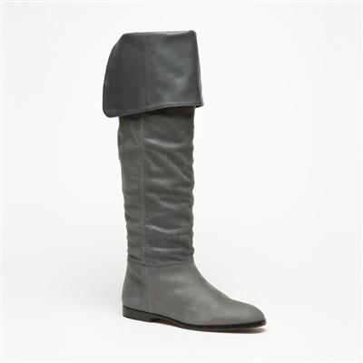 FURLA Stivali grigi in pelle Agorà Tacco: 1,5 cm; Gambale: 42,5