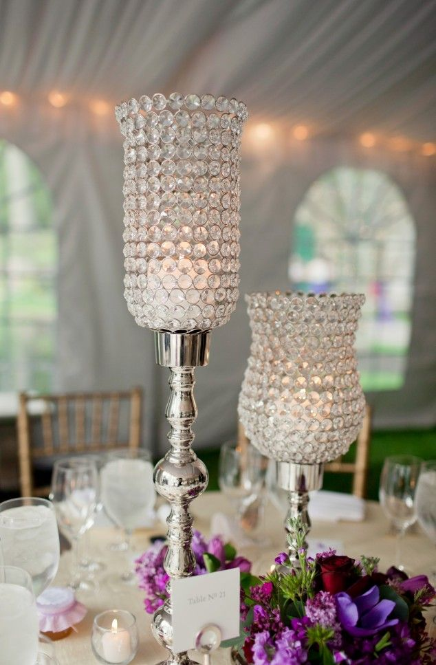 Candle wedding table decorations