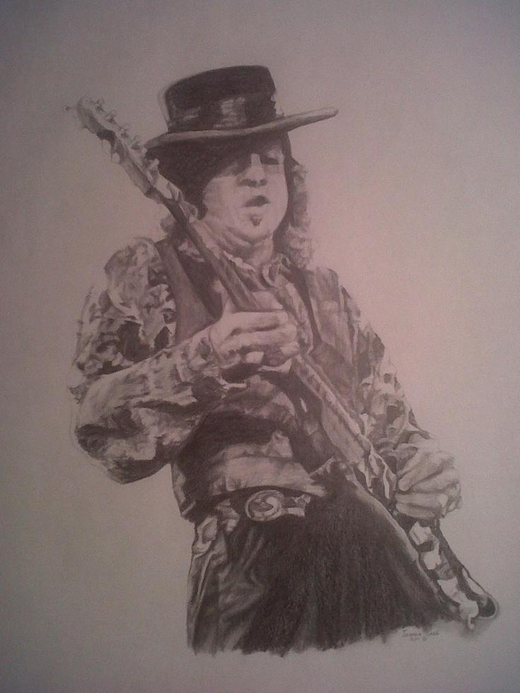 Stevie ray vaughan portrait rip my art pinterest for Stevie ray vaughan tattoo