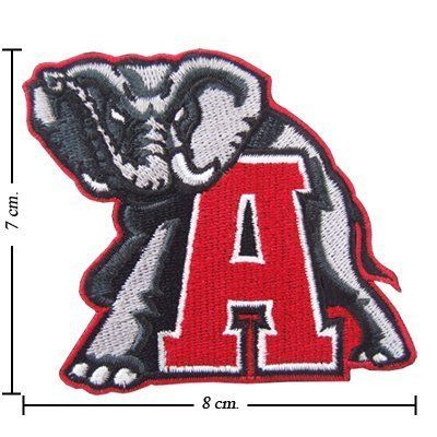 Alabama Crimson Tide Logo Embroidered Iron Patches  Embroidered iron or sew on patch & SUPER High Quality Embroidery Cloth  100% Customer Satisfaction Guarantee  Great for Jeans, Jackets, Vests, Hats and more!