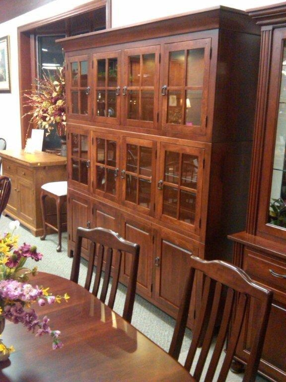 Settlers Hutch Shown In Rustic Cherry