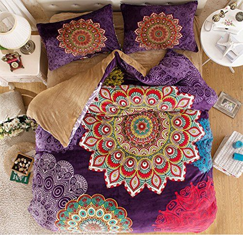 Amazon Com Maketop Boho Style Bedding Set Boho Duvet