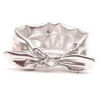 Croshka Designs Top Knot Metallic Headband for Baby Girls - Silver www.babyheadbands.co.za