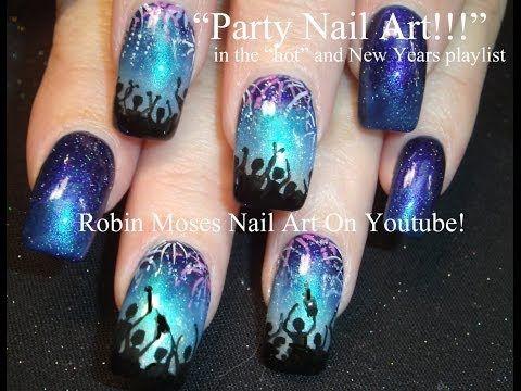 Nail Art Tutorial | DIY New Years Eve Nails | NYE Party nail art design! - YouTube