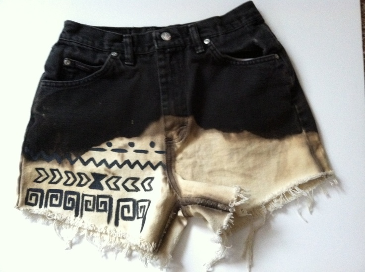 Black and White Tribal pattern HIGH WASTED shorts SIZE 8. $20.00, via Etsy.