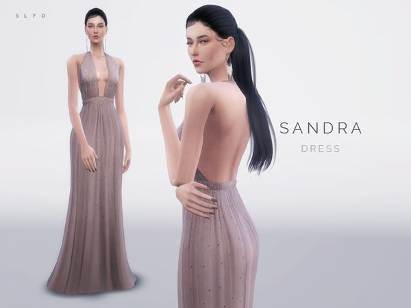 SANDRA dress by SLYD at TSR via Sims 4 Updates  Check more at http://sims4updates.net/clothing/sandra-dress-by-slyd-at-tsr/