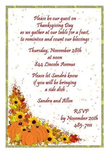 21 best Thanksgiving Invitations images on Pinterest Dinner - gathering invitation sample