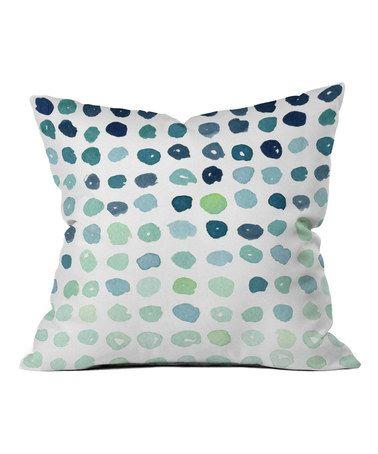 Look at this #zulilyfind! Social Proper Blue Dot Throw Pillow #zulilyfinds