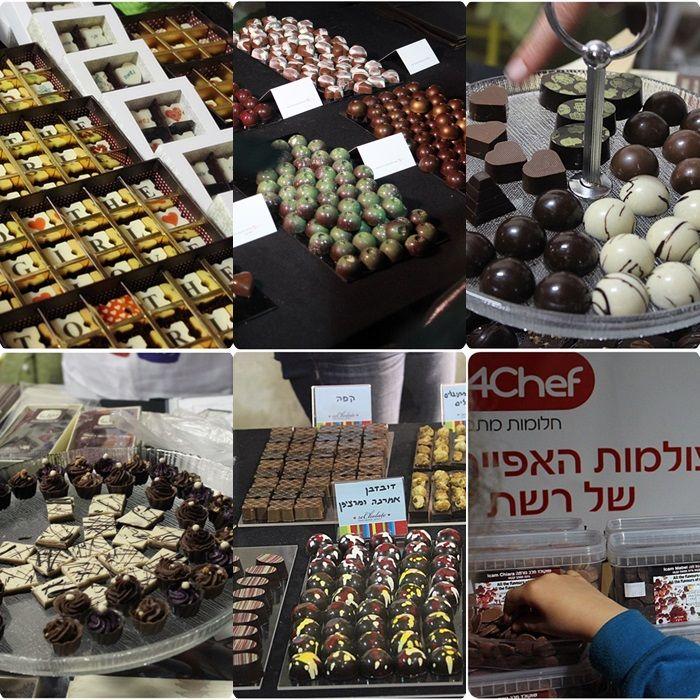 Chocolates from the Tel Aviv chocolate festival