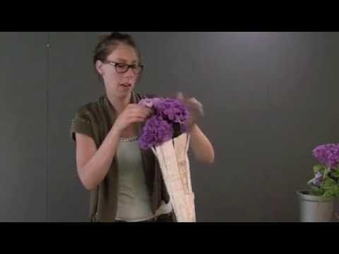 Bloemenhoorn maken met Nelleke Bontje - Groei en Bloei - YouTube