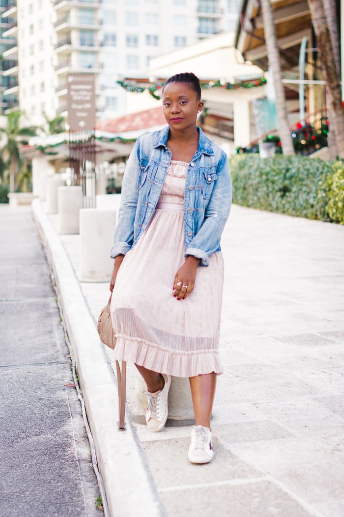 Ruffle Dress with Sneakers | Dress with