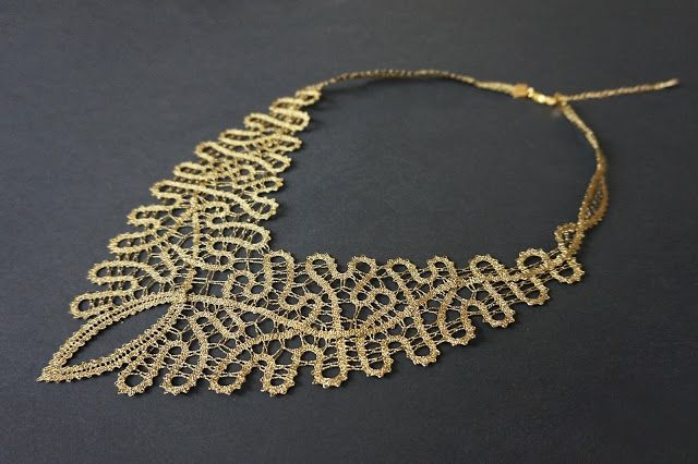 Baroque Lace Necklace by Čipkalnica / The Idria Lace www.theidrialace.com