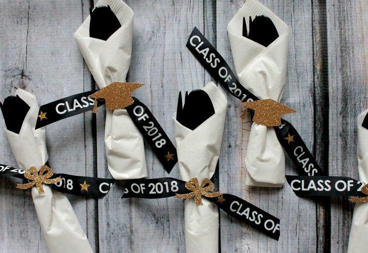 Abschlussfeier, Abschlussfeierdekor, Abschlussbesteck, Klasse von 2018, Abschlussfeierideen, Abschlussbesteck, Abschlussfeierbesteck