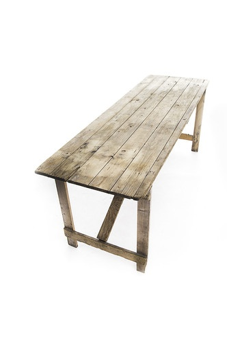 wooden trestle table with wooden folding legs, folds flat | eBay | Good design for people to sit at!