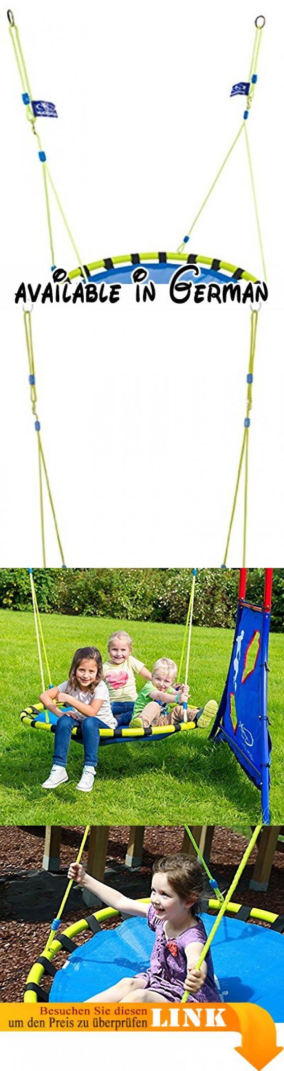 HUDORA Nestschaukel Aluminium, Belastbarkeit bis 120 kg, 120 cm, blau/gelb. GS-geprüftes Premium-Produkt. Höhenjustierbares Seil von 146 bis 176 cm, inkl. Haltestahlring und Verstellöse. besonders weiche Sitzfläche und ausschließlich wetterbeständige Materialien. ca. 120 cm Sitzflächendurchmesser; Max. Benutzergewicht 120 kg. Mit genügend Platz kann die Schaukel auch als Kuschelnest im Haus aufgehängt werden #Toy #SPORTING_GOODS