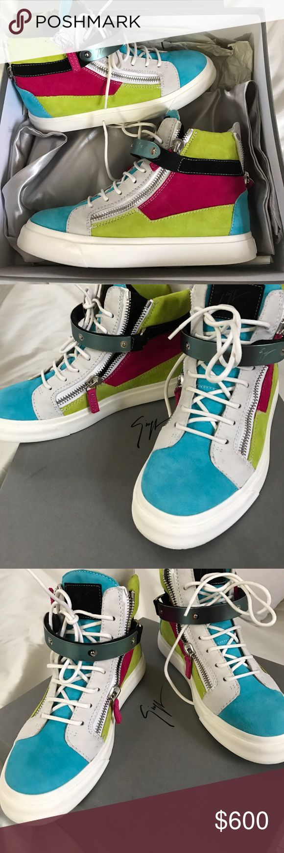 guiseppe zanotti sneakers multi-color high top sneakers including box Giuseppe Zanotti Shoes Sneakers