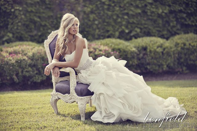 bridal portrait. Love the accent chair! Perhaps the Crescent would let us bring one of their chairs to the courtyard...?