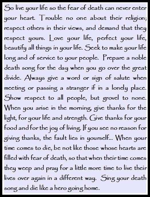 Tecumseh Quote Used In Act Of Valor Movie At The End Of The Movie