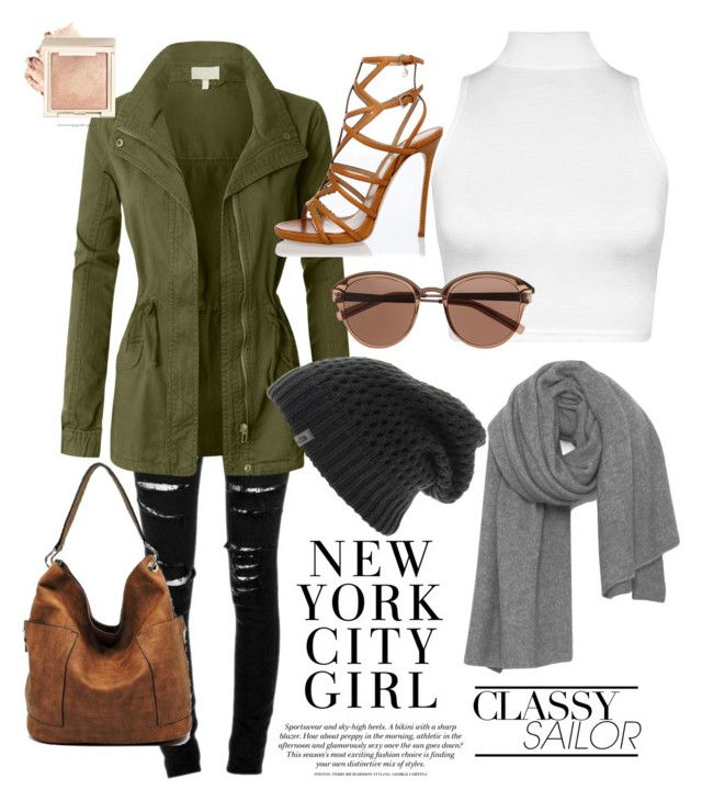 """""""Kacki Jacki"""" by bubblegum13fuschia on Polyvore featuring Yves Saint Laurent, LE3NO, WearAll, The North Face, American Vintage, Dsquared2 and Witchery"""