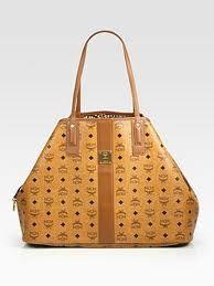 Reversible Canvas Leather Shopper  #MCM Bag