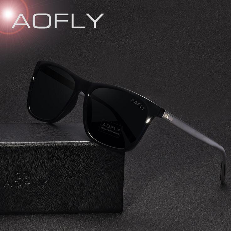 AOFLY Clássico Polarizada Óculos de Sol Da Moda Estilo Óculos De Sol para Homens/Mulheres de Design Da Marca Do Vintage UV400 oculos de sol masculino
